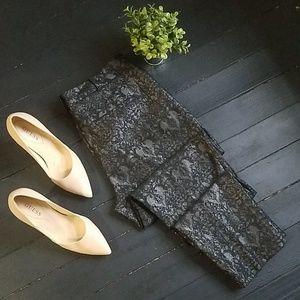 🌼 Worthington floral glitter pants